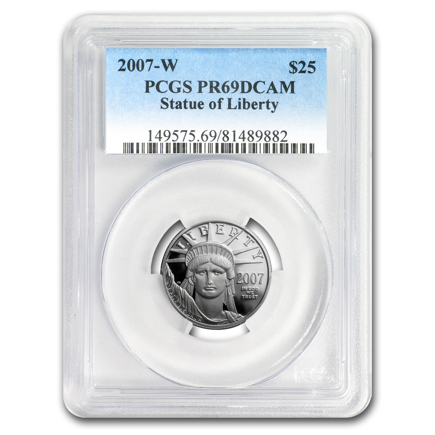 2007-W 1/4 oz Proof Platinum American Eagle PR-69 PCGS