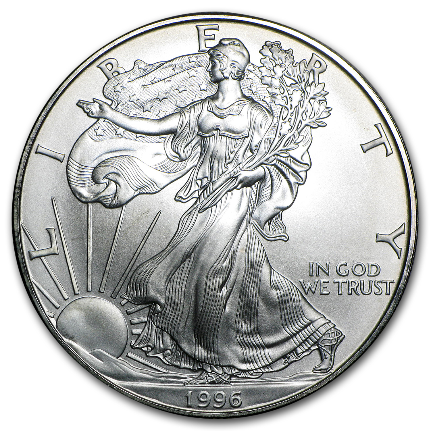 1996 1 oz Silver American Eagle (Imperfections)