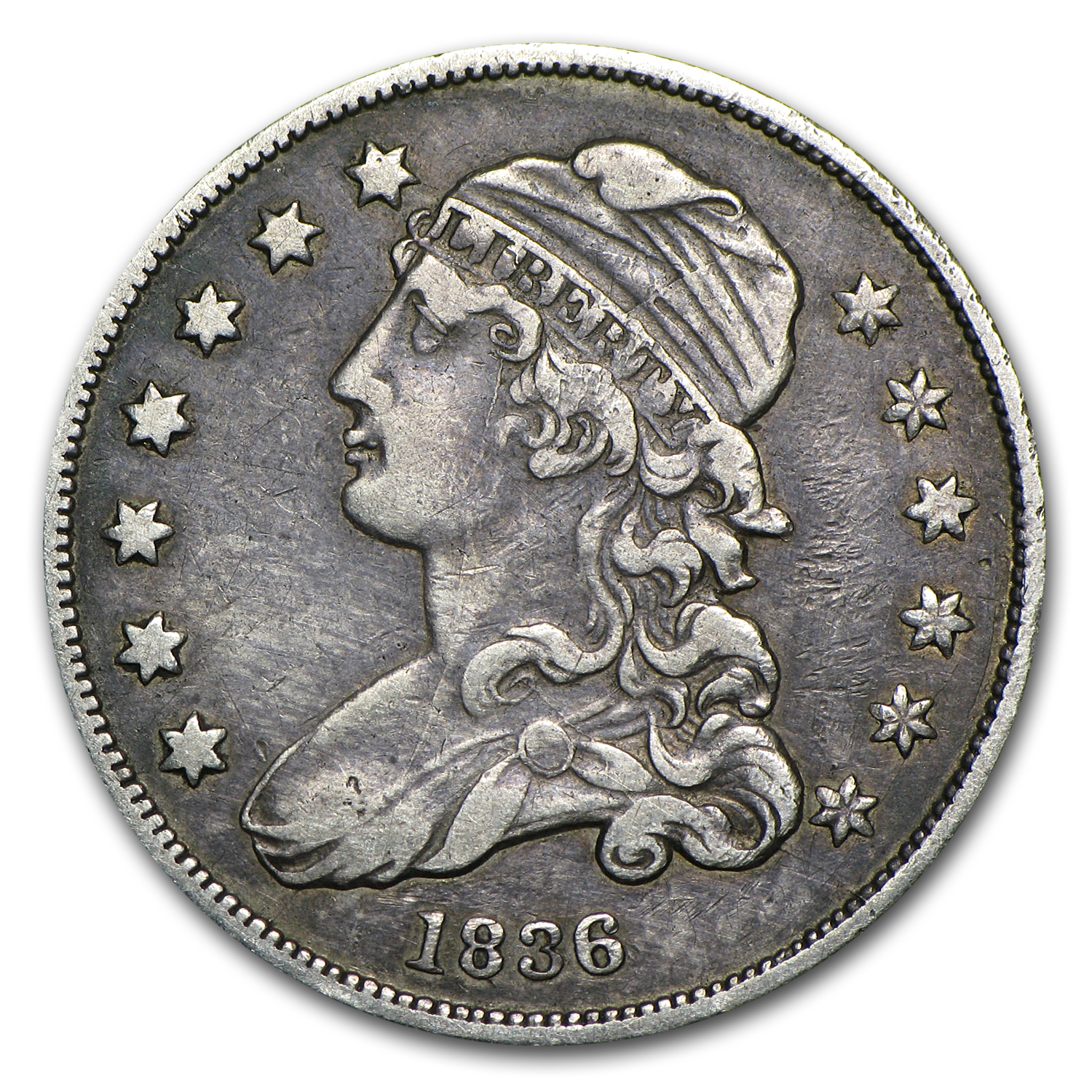 1836 Capped Bust Quarter XF
