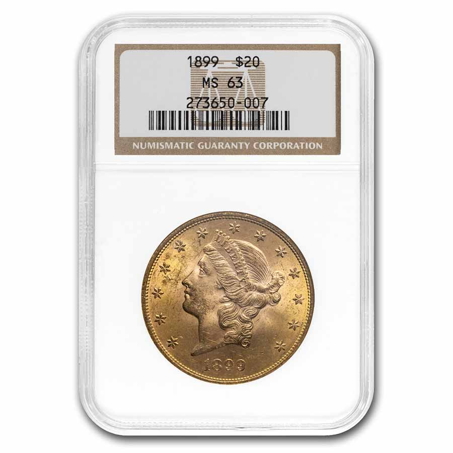 1899 $20 Liberty Gold Double Eagle MS-63 NGC