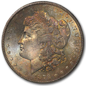 1878-CC Morgan Dollar - MS-64 NGC Vam-11 Eagle's Wing Top-100