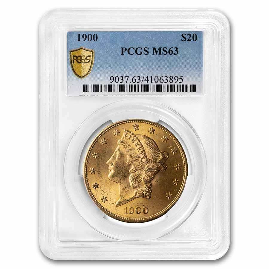 1900 $20 Liberty Gold Double Eagle MS-63 PCGS