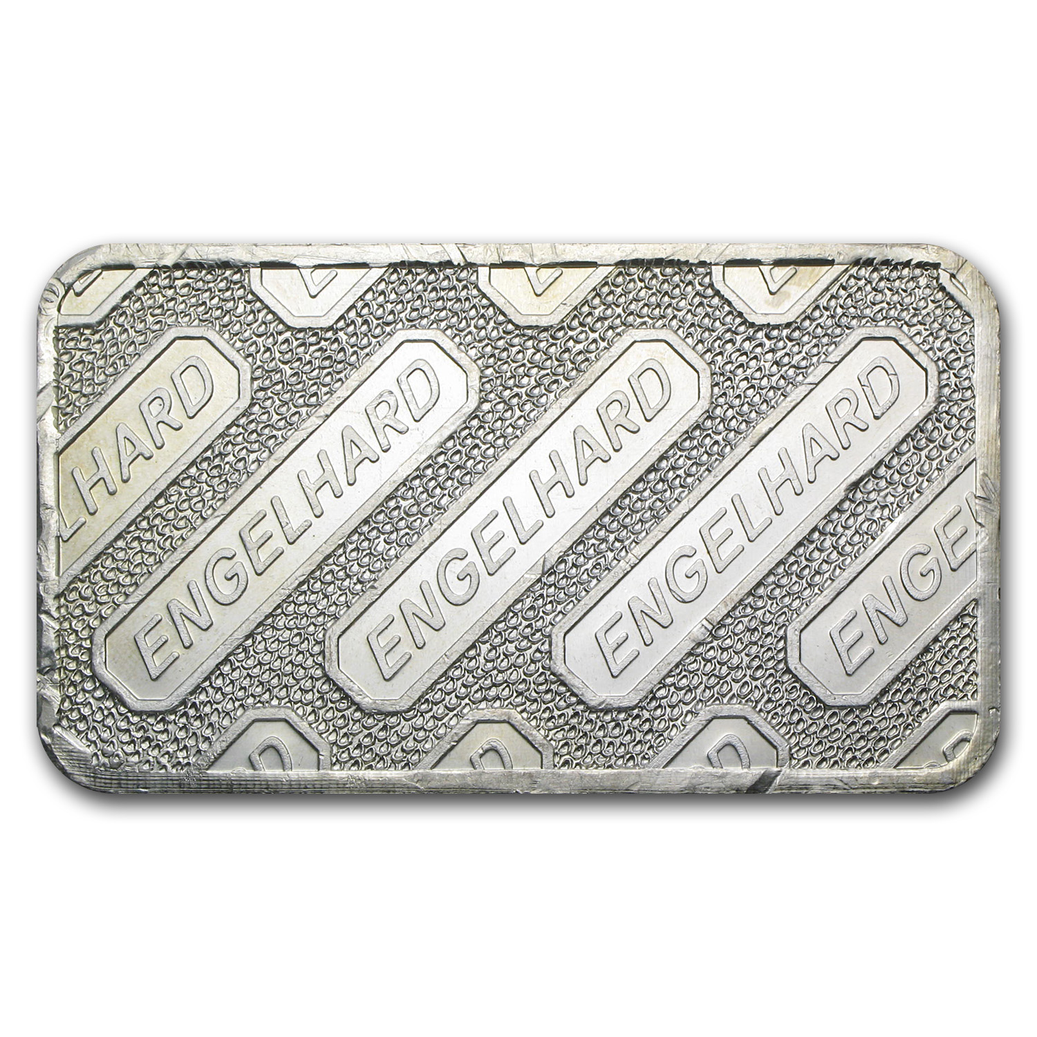 10 oz Silver Bar - Engelhard (Wide, Struck, Logo Reverse)