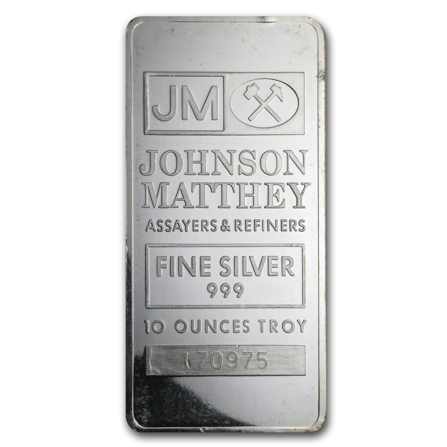 10 oz Silver Bar - Johnson Matthey (Secondary Market)