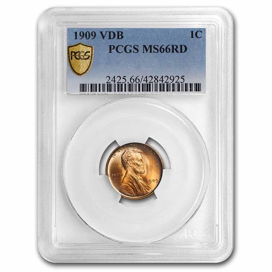 1909 VDB Lincoln Cent MS-66 PCGS (Red)