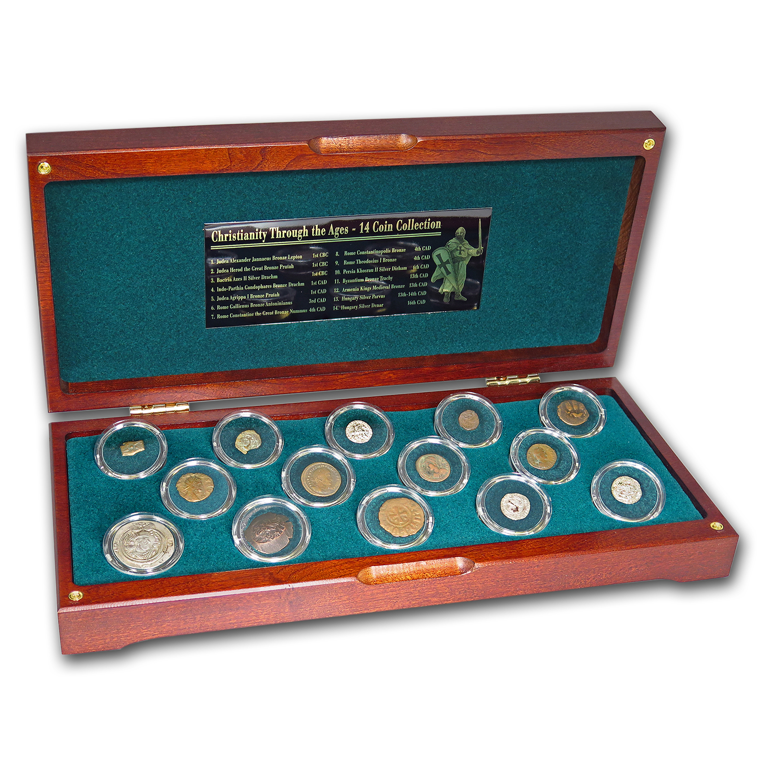 Christianity Through The Ages 14-Coin Collection