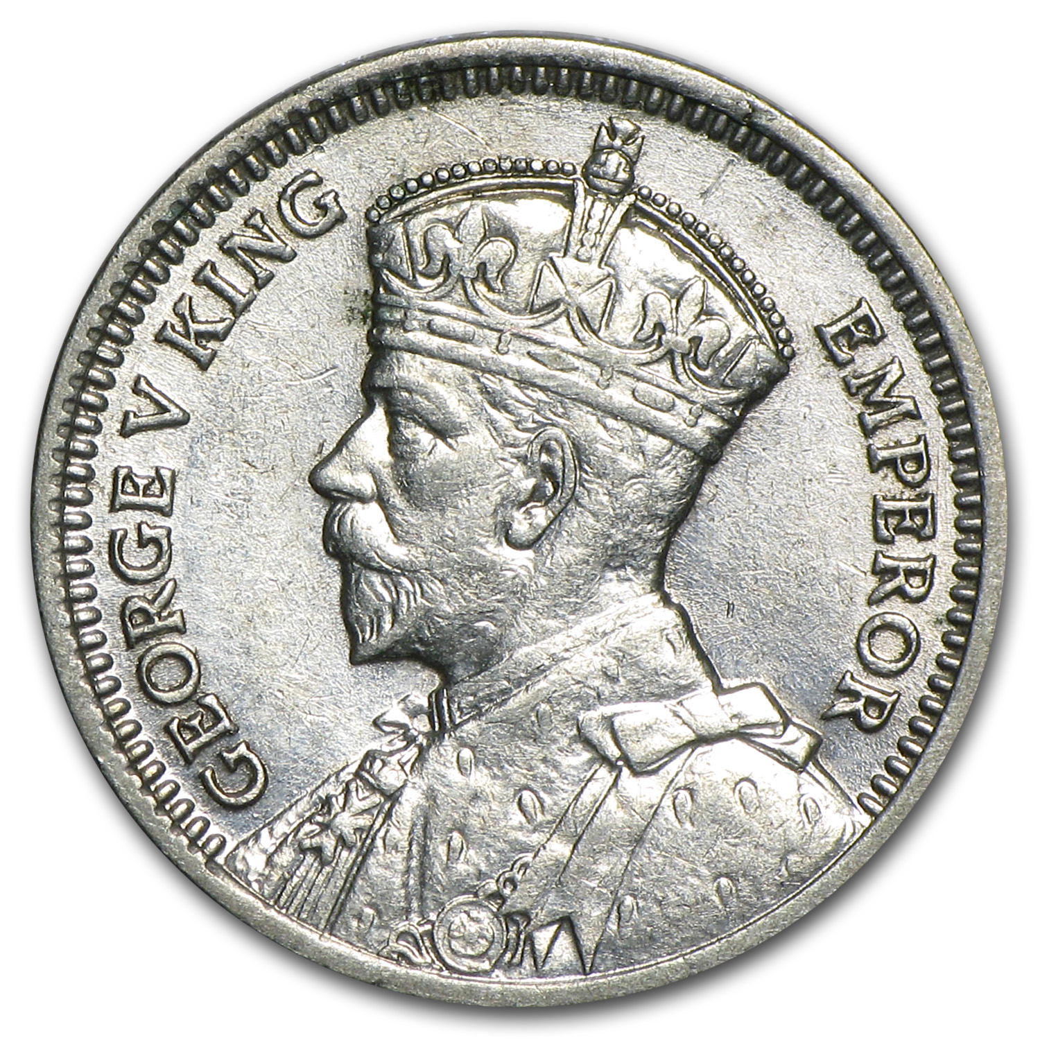 1933-1936 New Zealand Silver 3 Pence George V Avg Circ