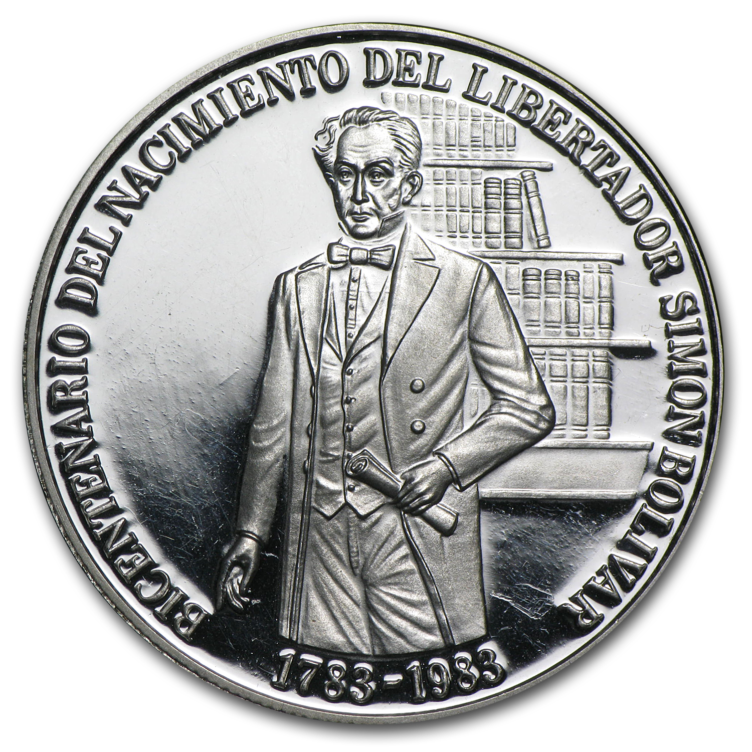 1983 Venezuela Silver 100 Bolivares Birth of Bolivar Proof
