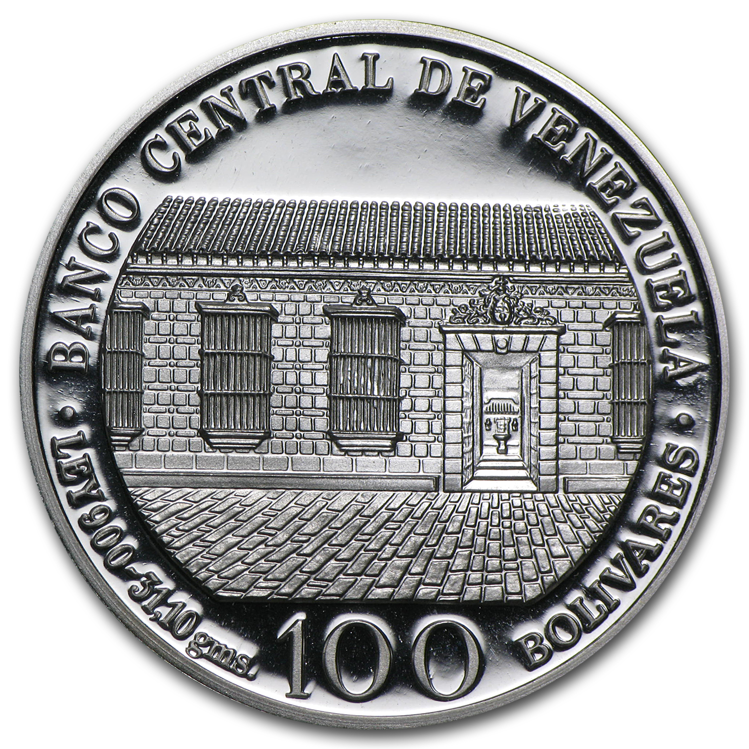 Venezuela 1983 100 Bolivares Silver Proof Birth of Bolivar