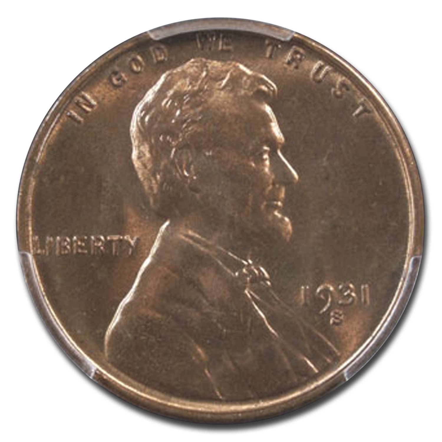 1931-S Lincoln Cent MS-65 PCGS (Red)