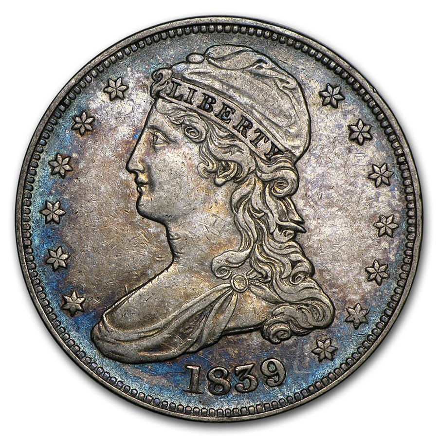 1839 Reeded Edge Half Dollar Xf Silver Prices