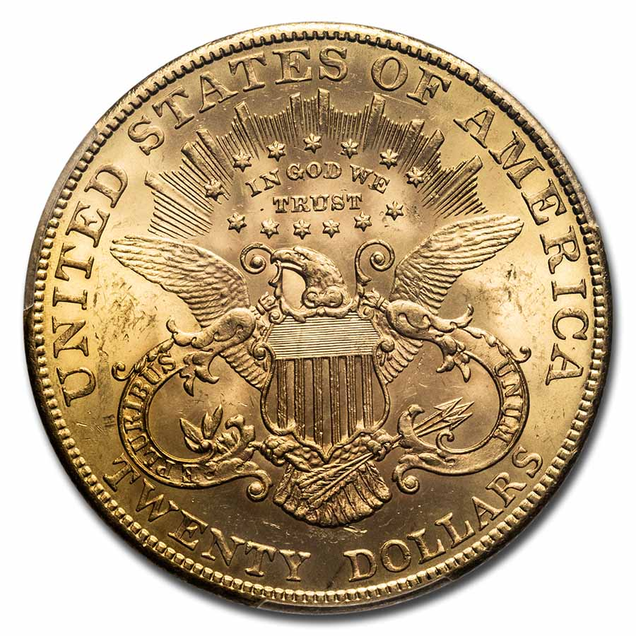 1907 $20 Gold Liberty Double Eagle - MS-63 PCGS