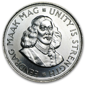 South Africa Silver 50 Cents Riebeeck AU/BU