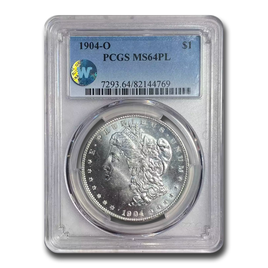 1904-O Morgan Dollar MS-64 PL Proof Like PCGS