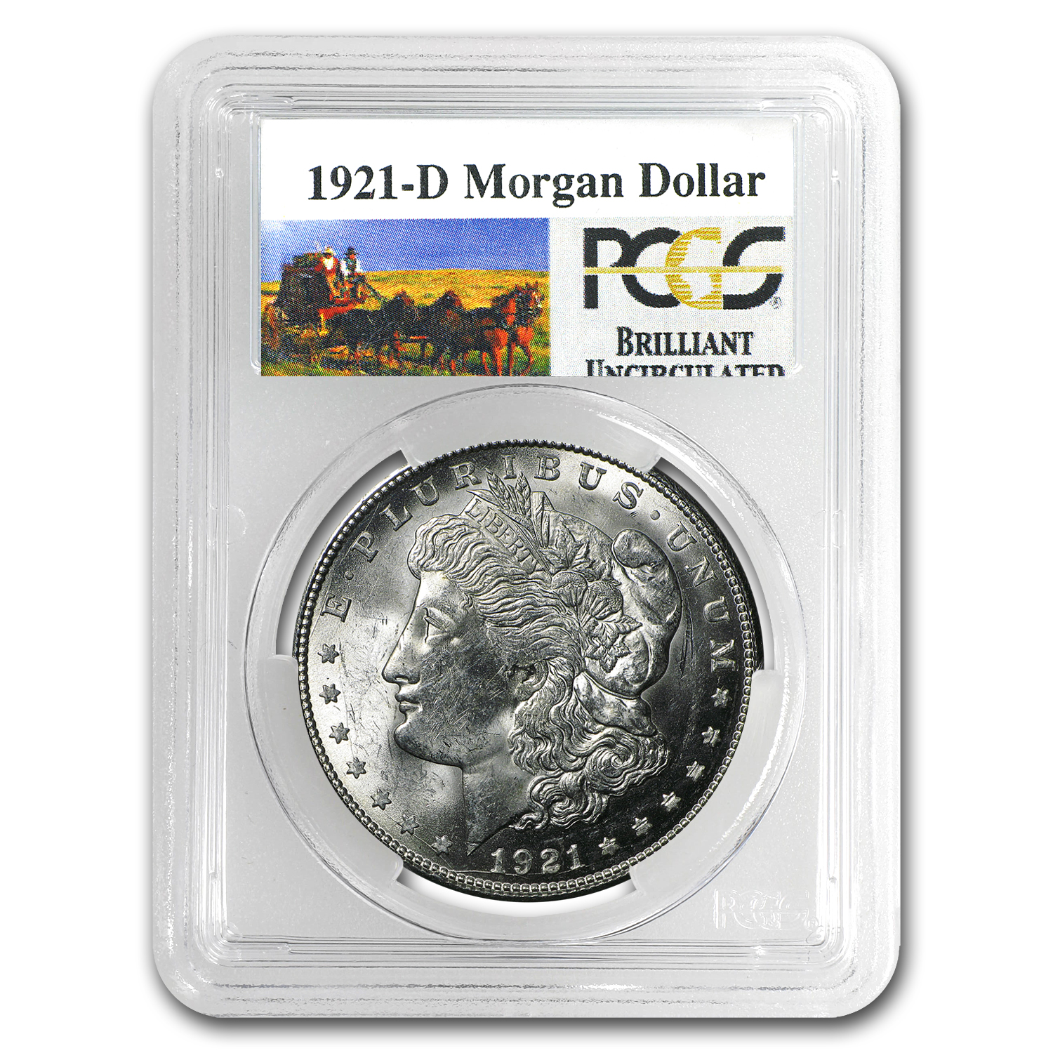 1921-D Stage Coach Morgan Dollar BU PCGS