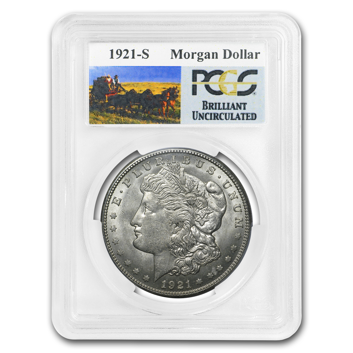1921-S Stage Coach Morgan Dollar BU PCGS