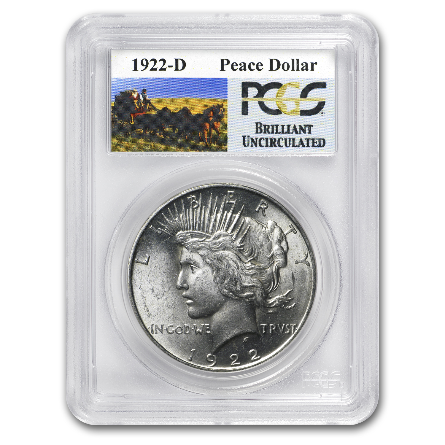 1922-D Brilliant Uncirculated PCGS Stage Coach Silver Dollars