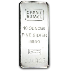 10 oz Silver Bar - Credit Suisse
