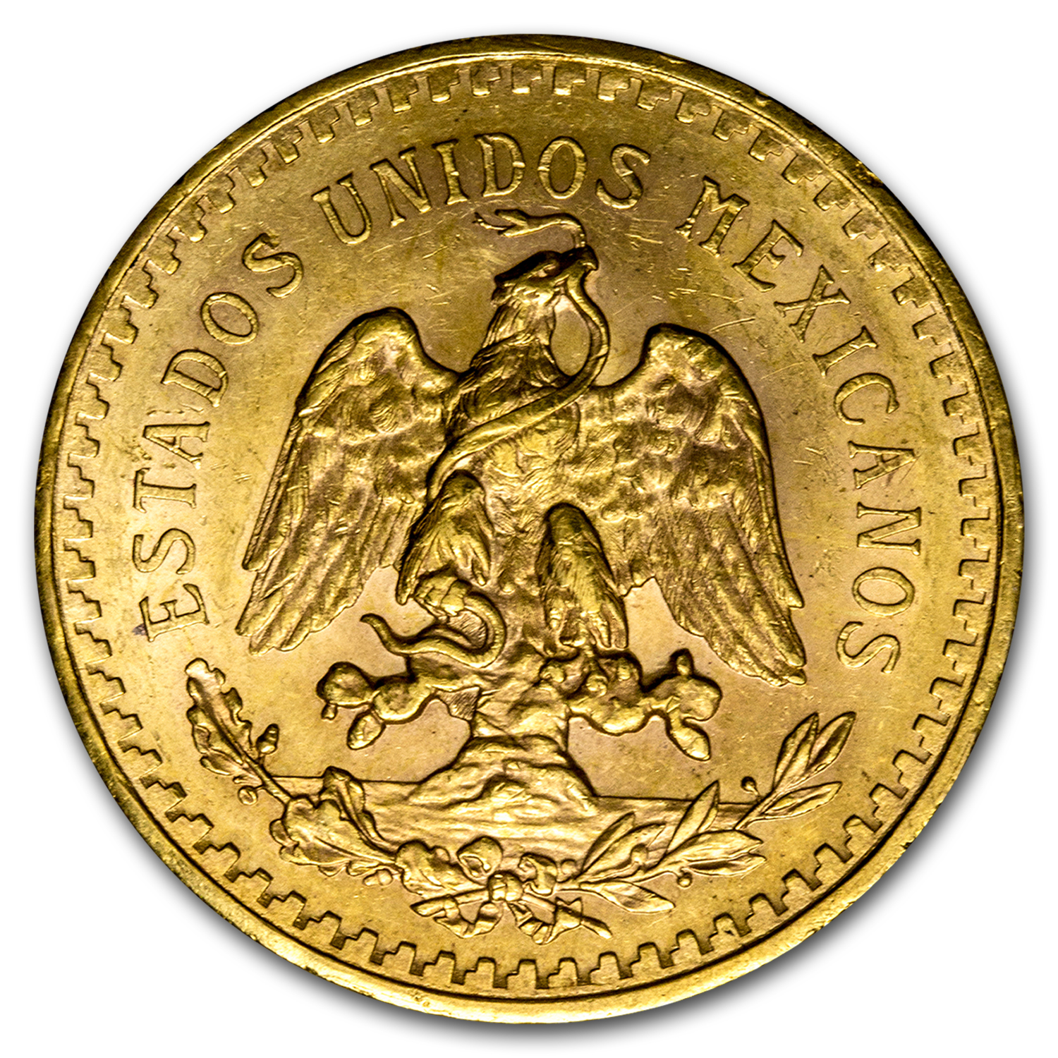 1921 Mexico Gold 50 Pesos AU