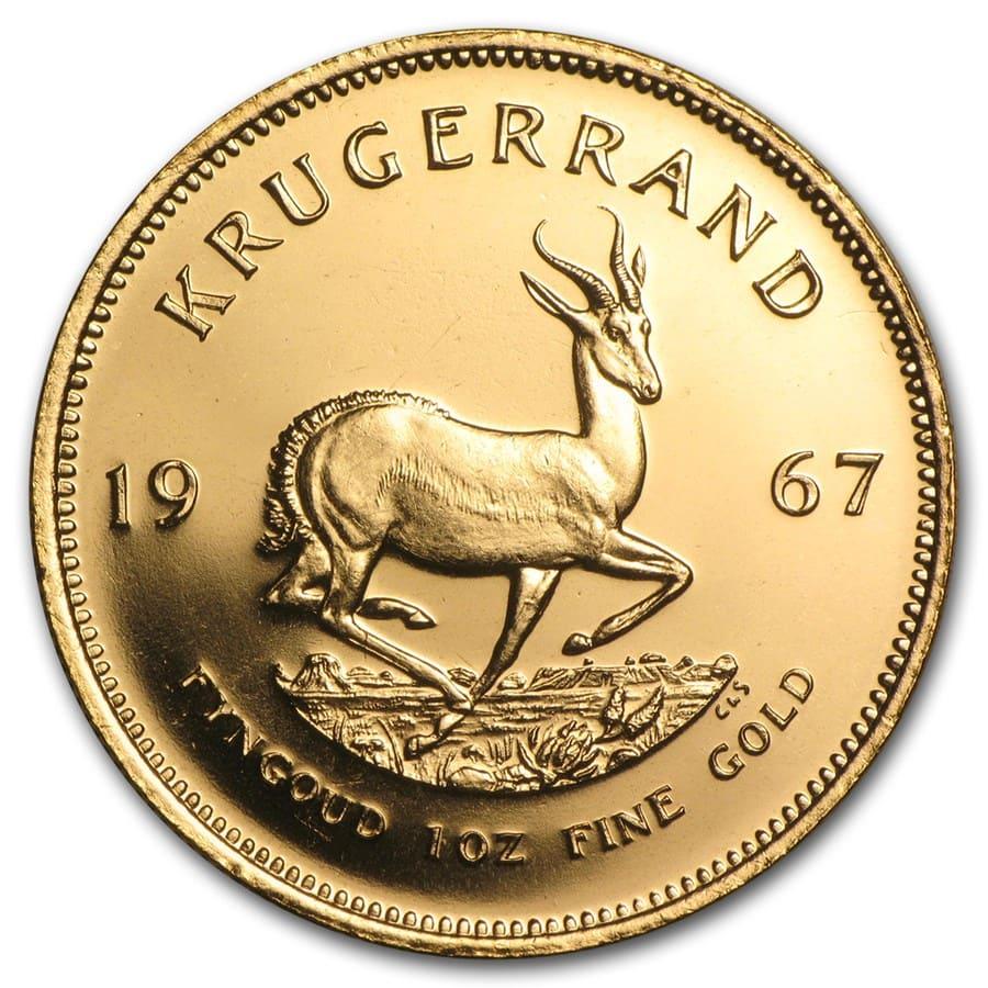 1967 South Africa 1 Oz Gold Krugerrand 1 Oz Gold