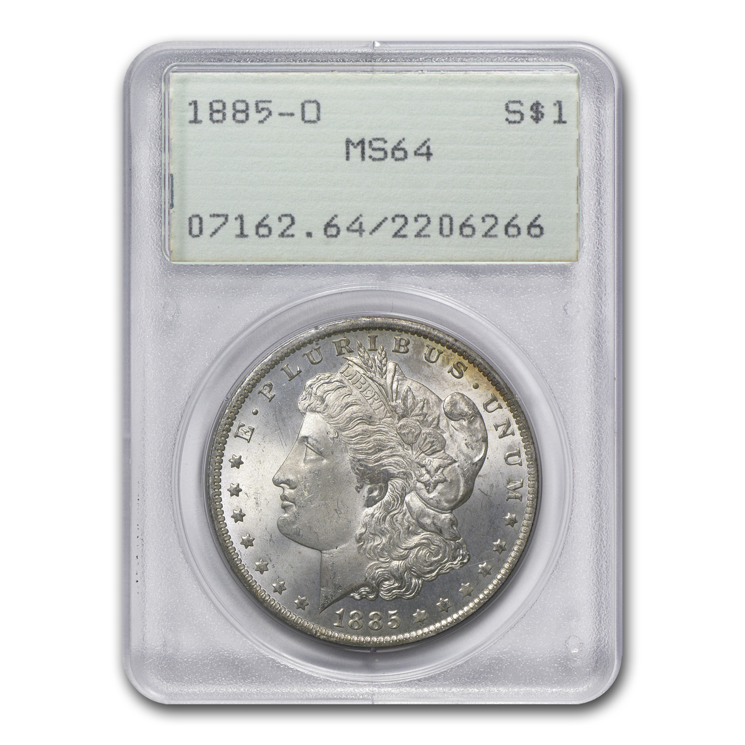 1878-1904 Morgan Dollars MS-64 PCGS (Old Rattler Holder)