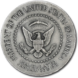 5.62 oz Silver Rounds - John F. Kennedy Medallion (2.75 dia.)