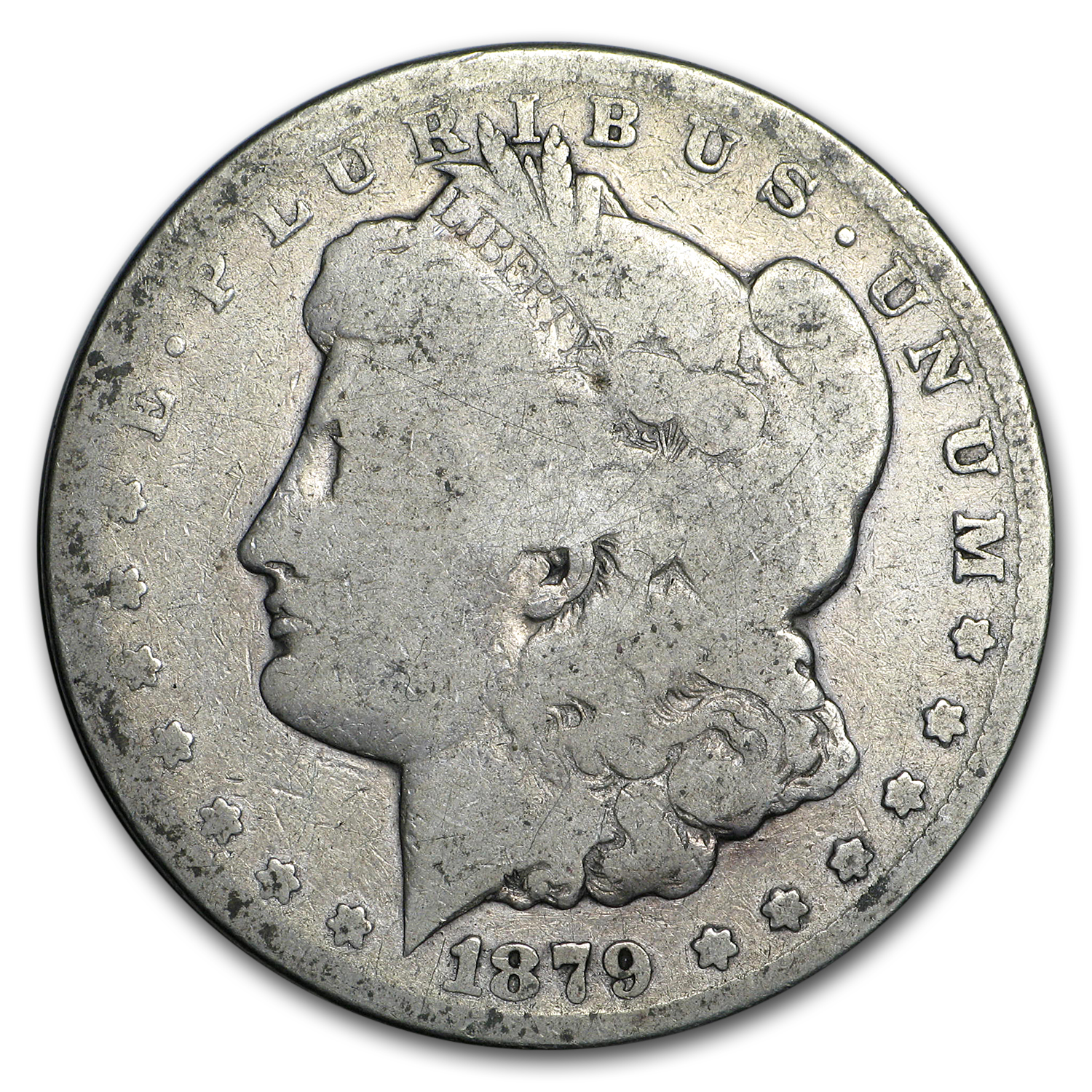 1879-CC Morgan Dollar Clear CC AG