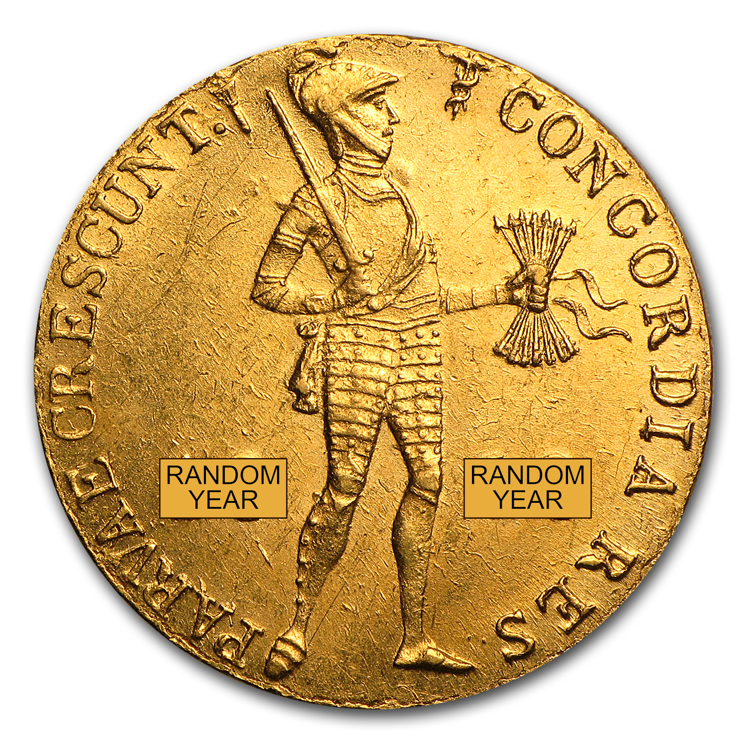 Netherlands Gold 1 Ducat (Random Dates)
