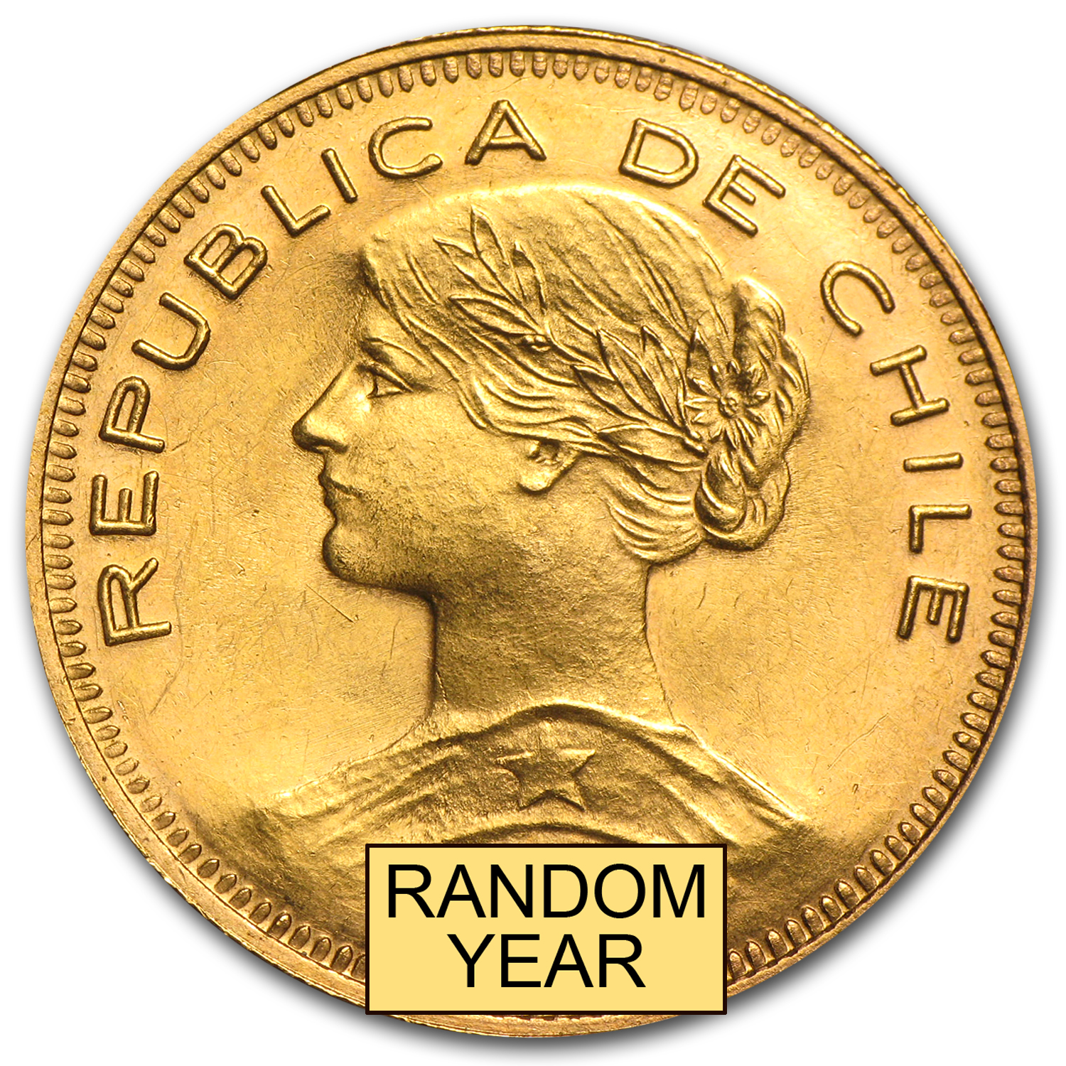 1926-1980 Chile Gold 100 Pesos (Random Dates)