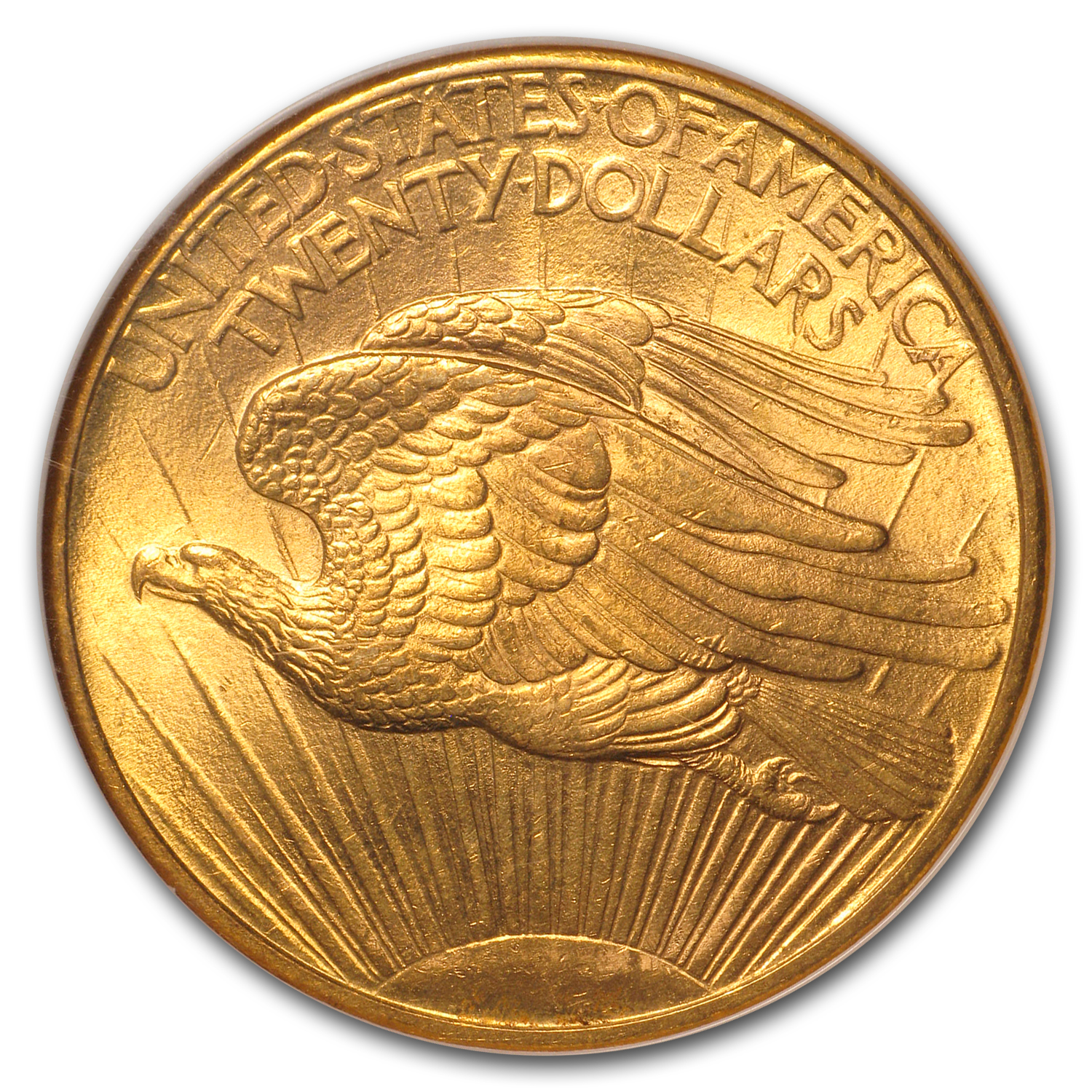 1908 $20 St. Gaudens Gold Double Eagle - No Motto - MS-64 NGC