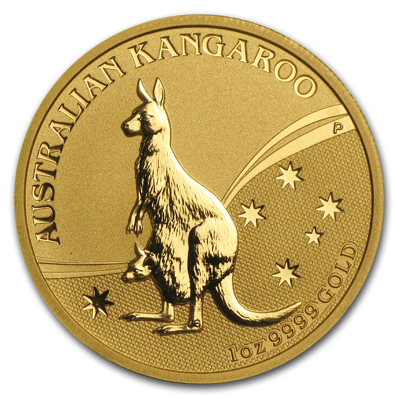 2009 Australia 1 Oz Gold Kangaroo Bu 1 Oz Gold Kangaroos