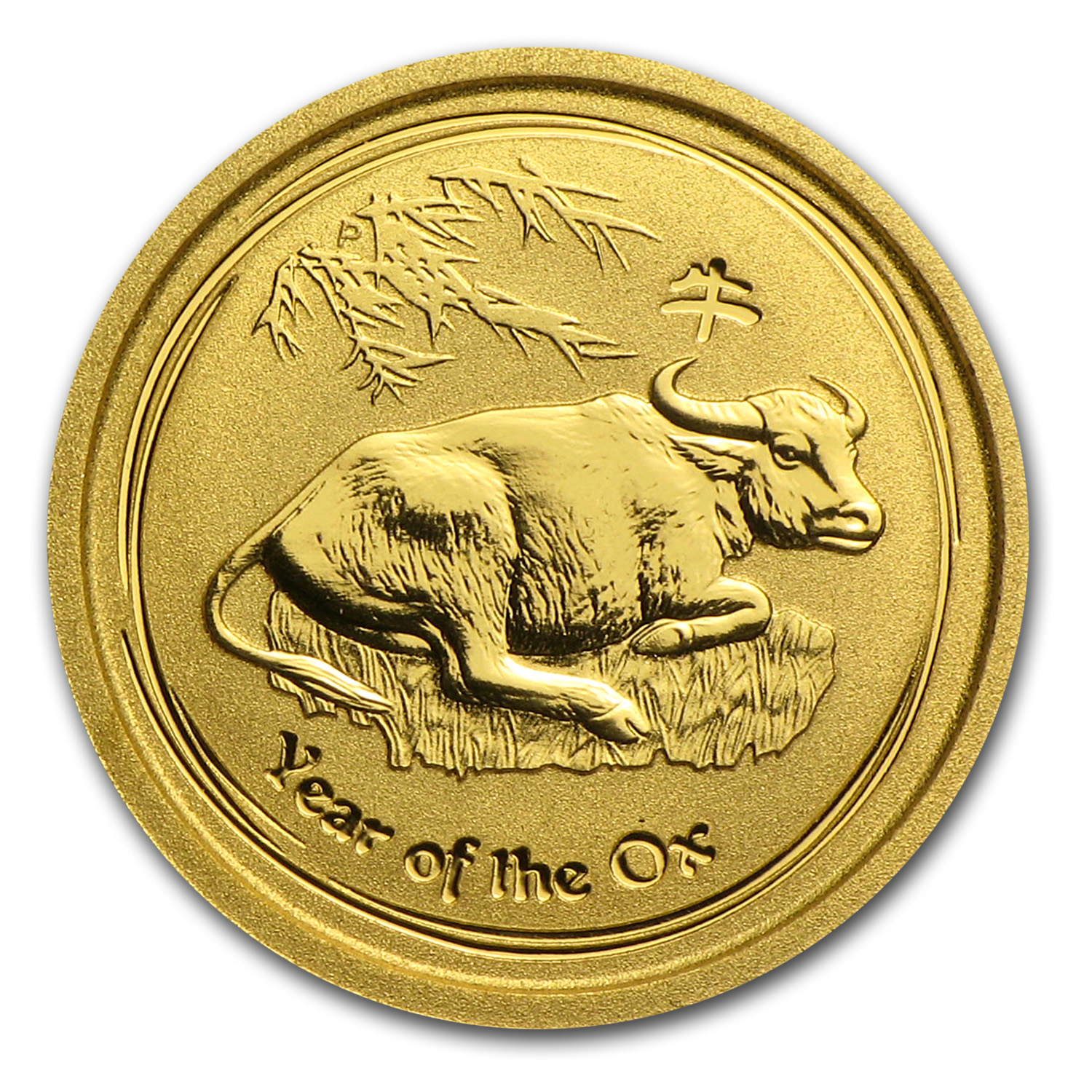 2009 1/20 oz Gold Lunar Year of the Ox BU (Series II)