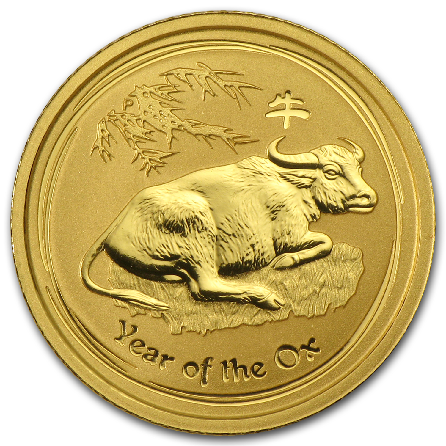 2009 1/10 oz Gold Lunar Year of the Ox BU (Series II)