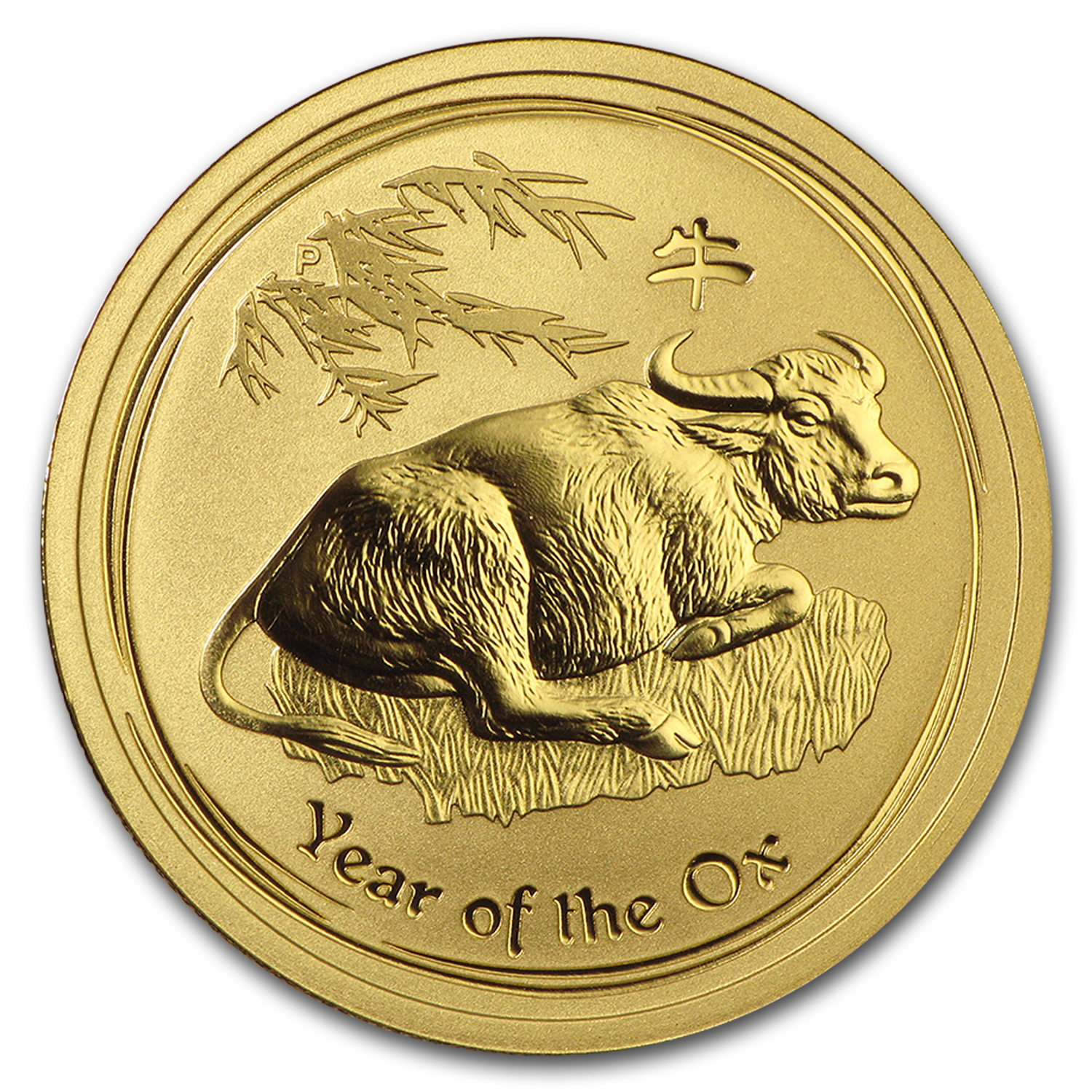 2009 1/2 oz Gold Lunar Year of the Ox BU (Series II)