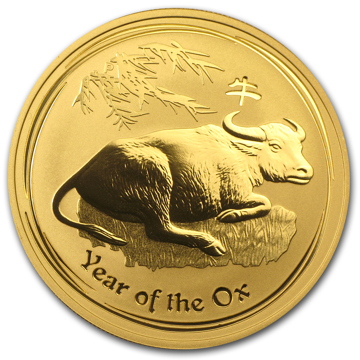 2009 1 oz Gold Lunar Year of the Ox BU (Series II)