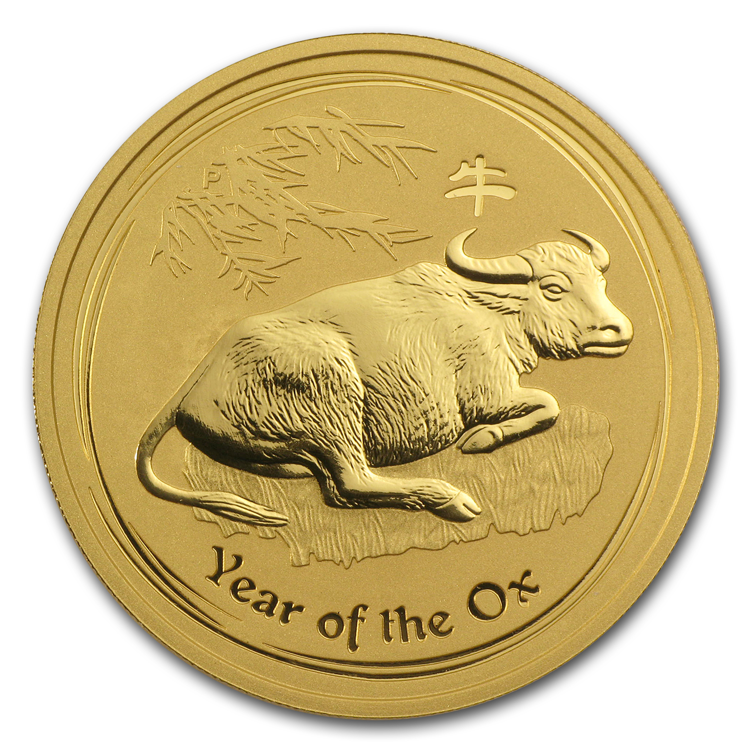 2009 Gold 2 oz Lunar Year of the Ox BU (Series II)