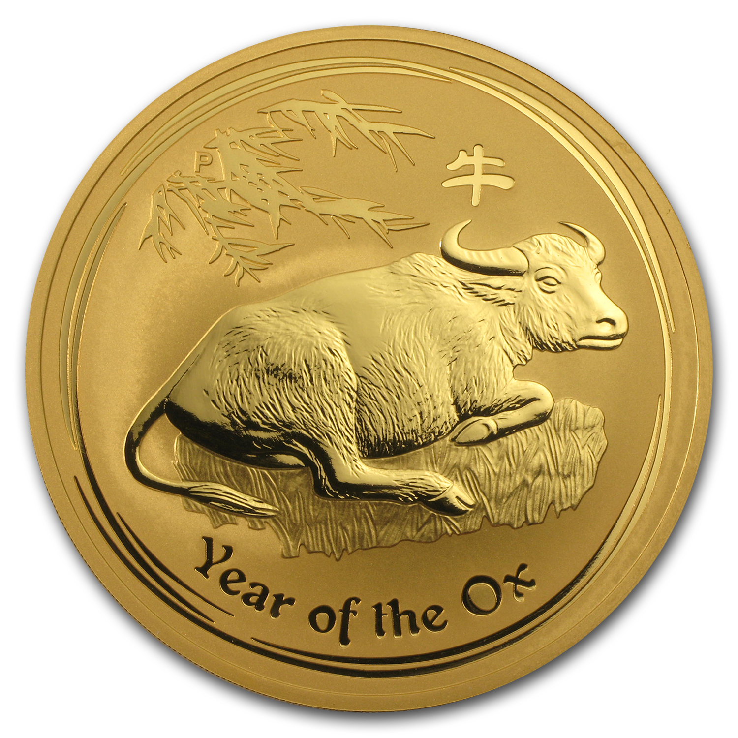 2009 10 oz Gold Lunar Year of the Ox BU (Series II)