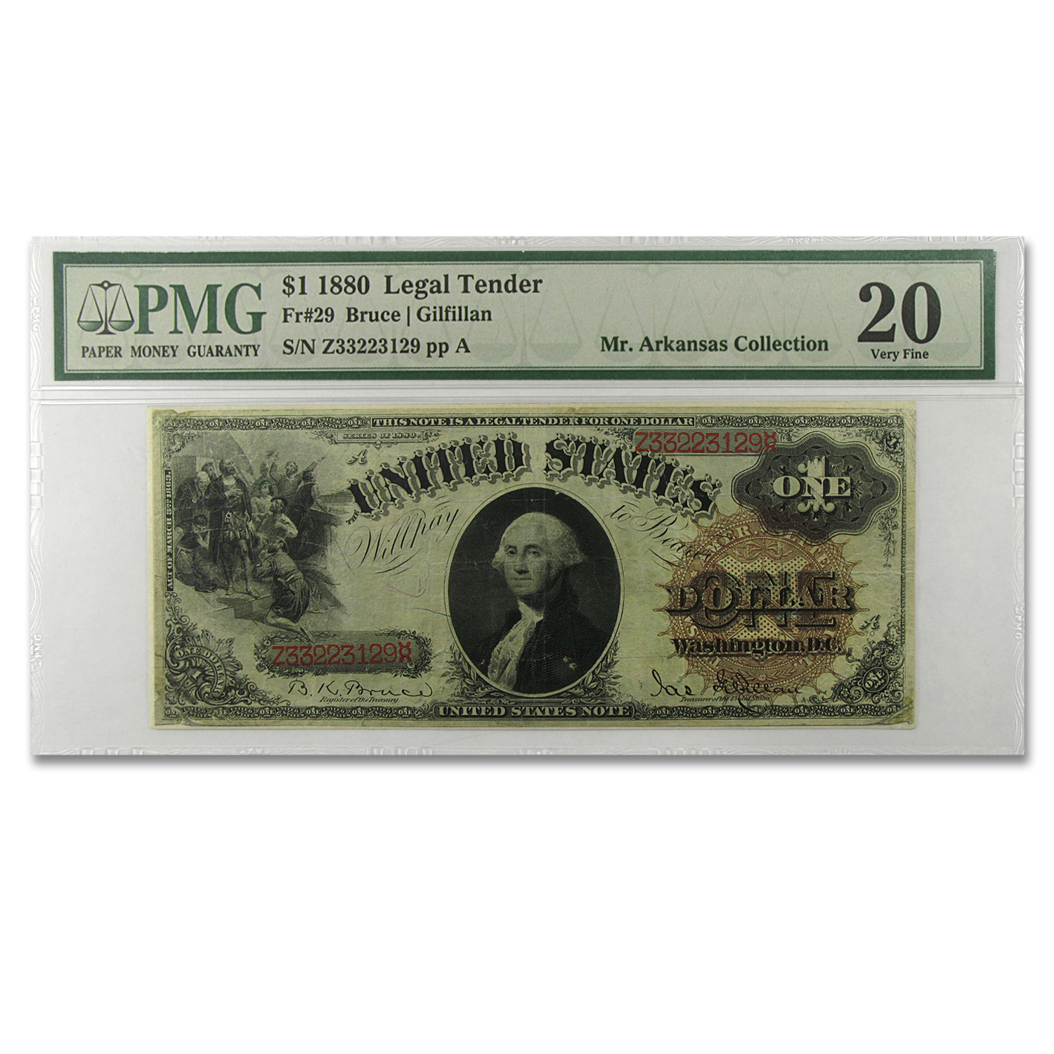 1880 $1 USN (Legal Tender) Very Fine 20 PMG