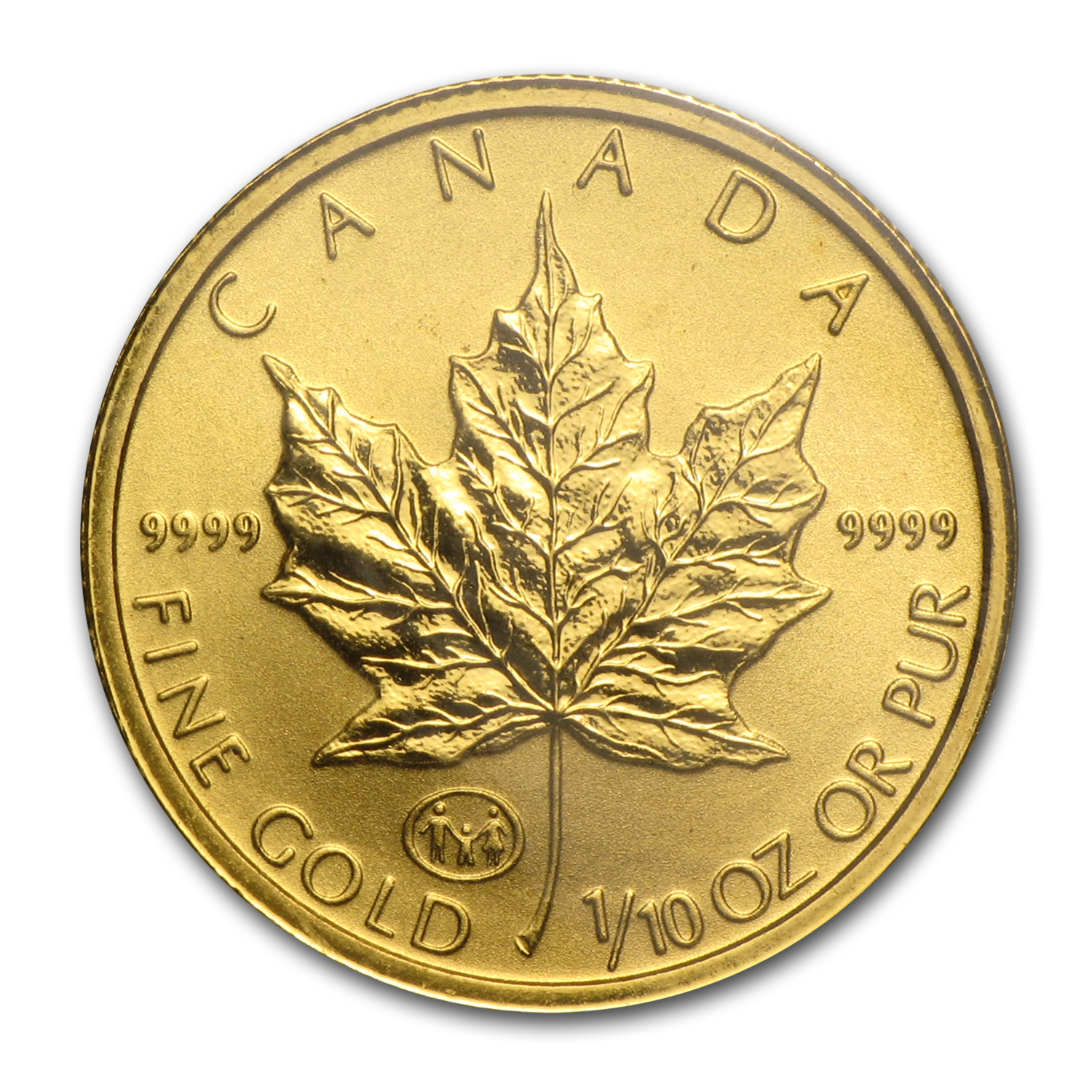 1997 Canada 1/10 oz Gold Maple Leaf BU (Family Privy)