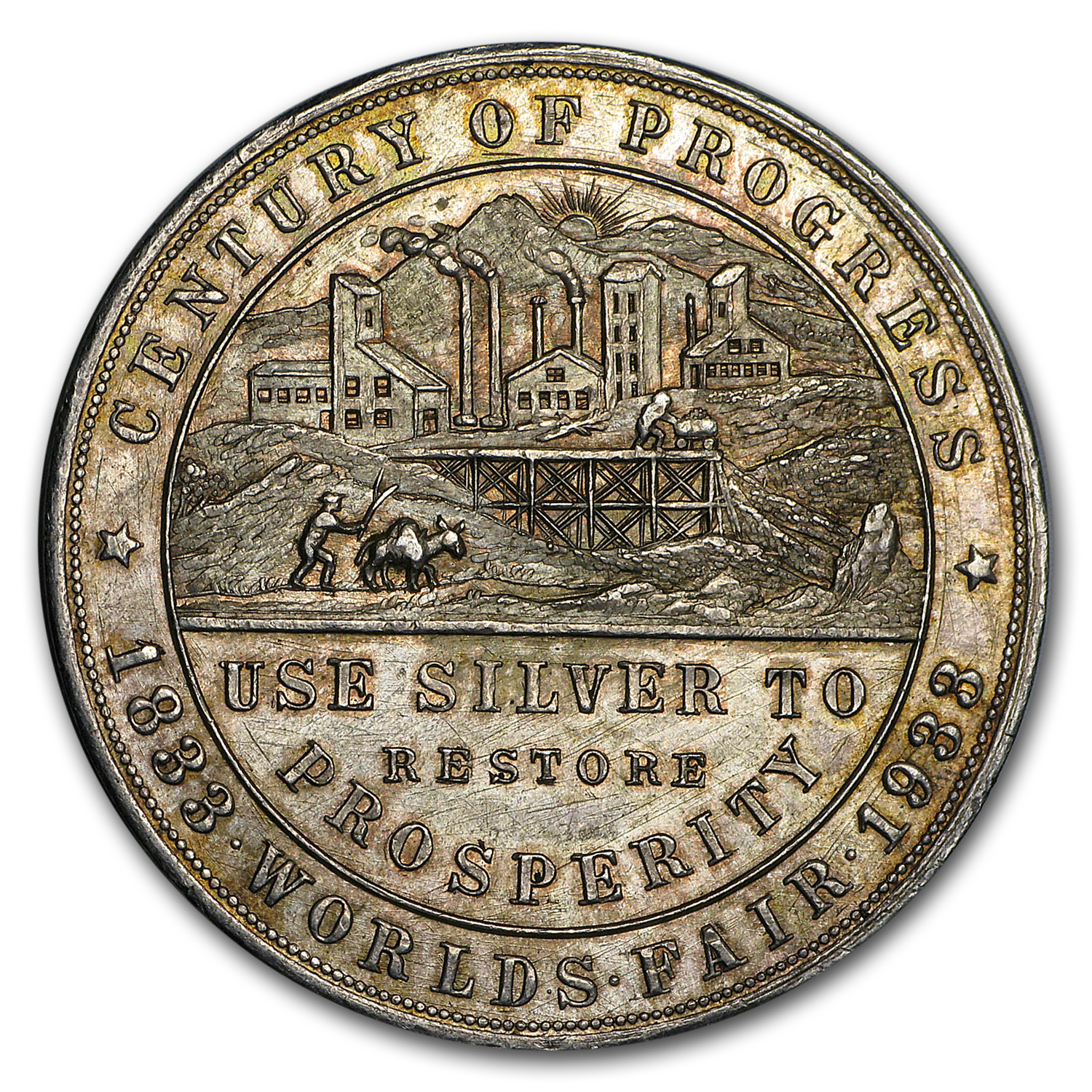 1933 Colorado Century of Progress Silver Dollar HK-870