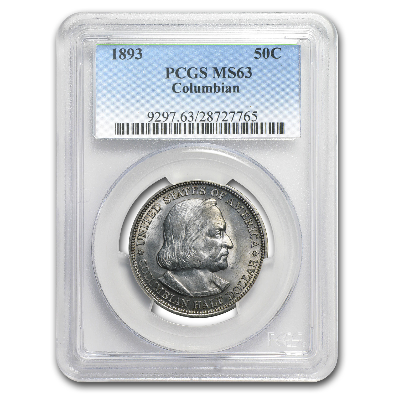 1893 Columbian Expo Half Dollar MS-63 PCGS