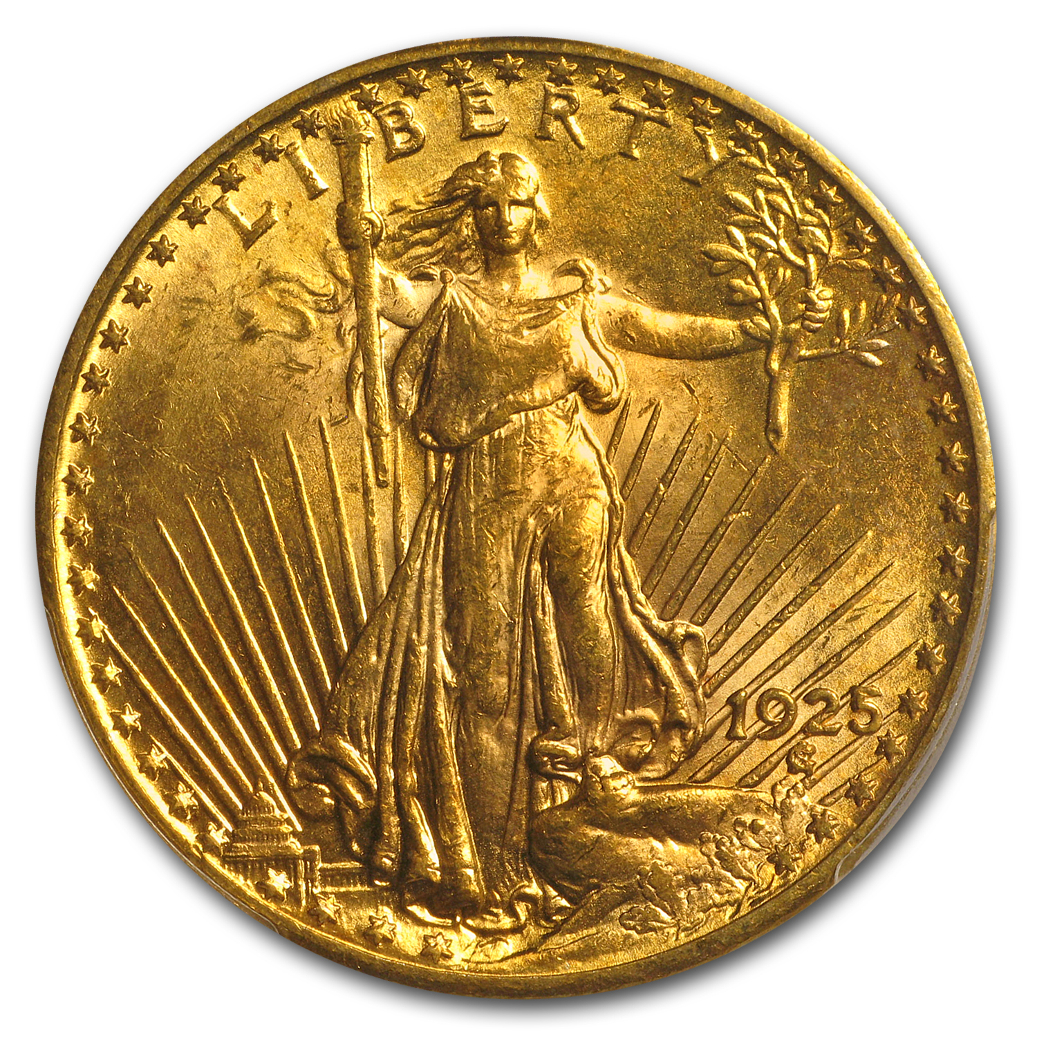 1925 $20 Saint-Gaudens Gold Double Eagle MS-63 PCGS