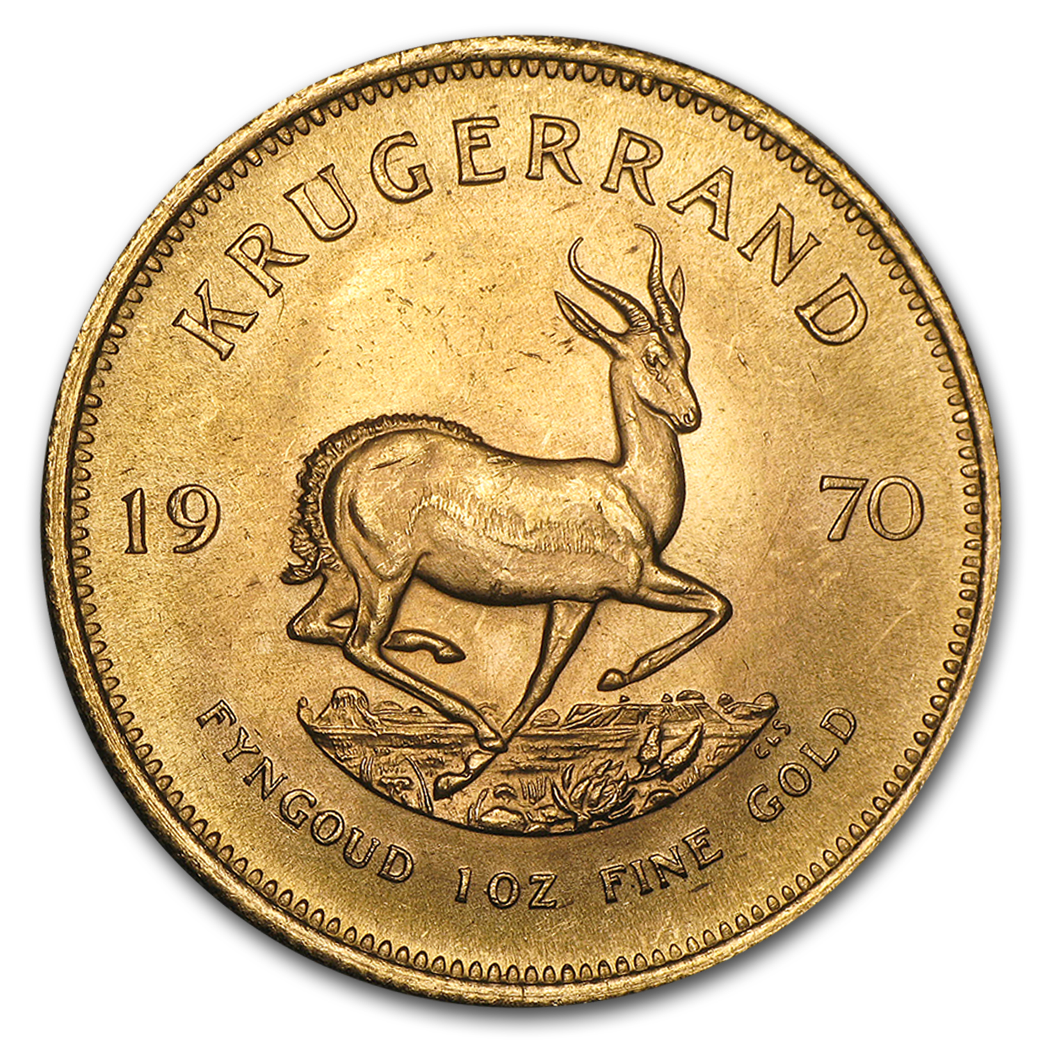 1970 South Africa 1 oz Gold Krugerrand