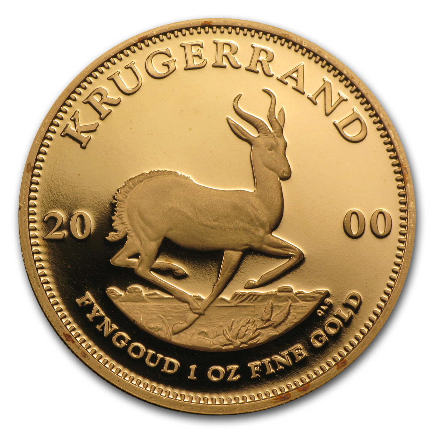 2000 South Africa 1 oz Proof Gold Krugerrand