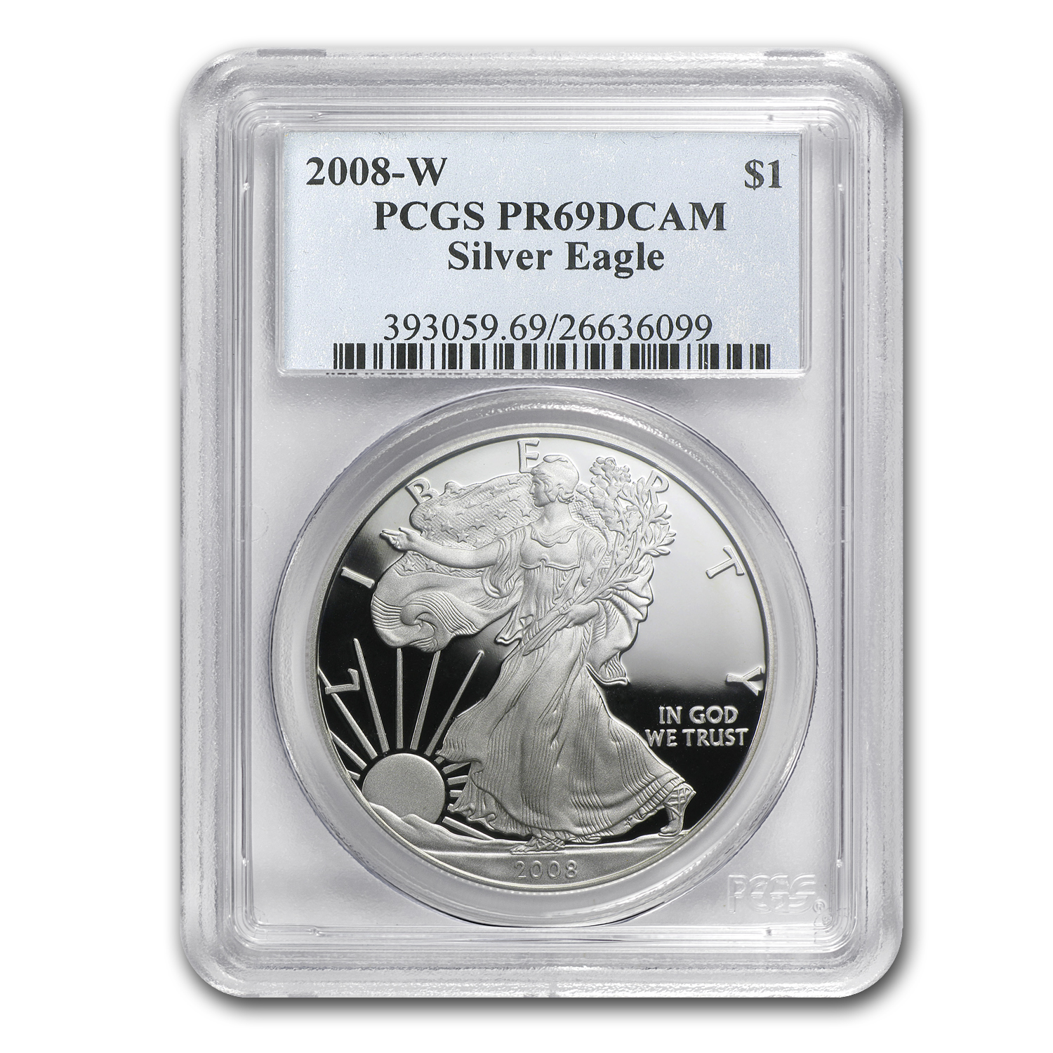 2008-W Proof Silver American Eagle PR-69 PCGS