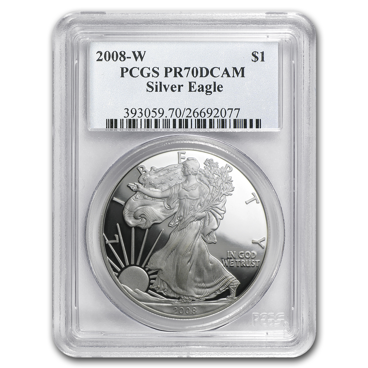 2008-W Proof Silver American Eagle PR-70 PCGS