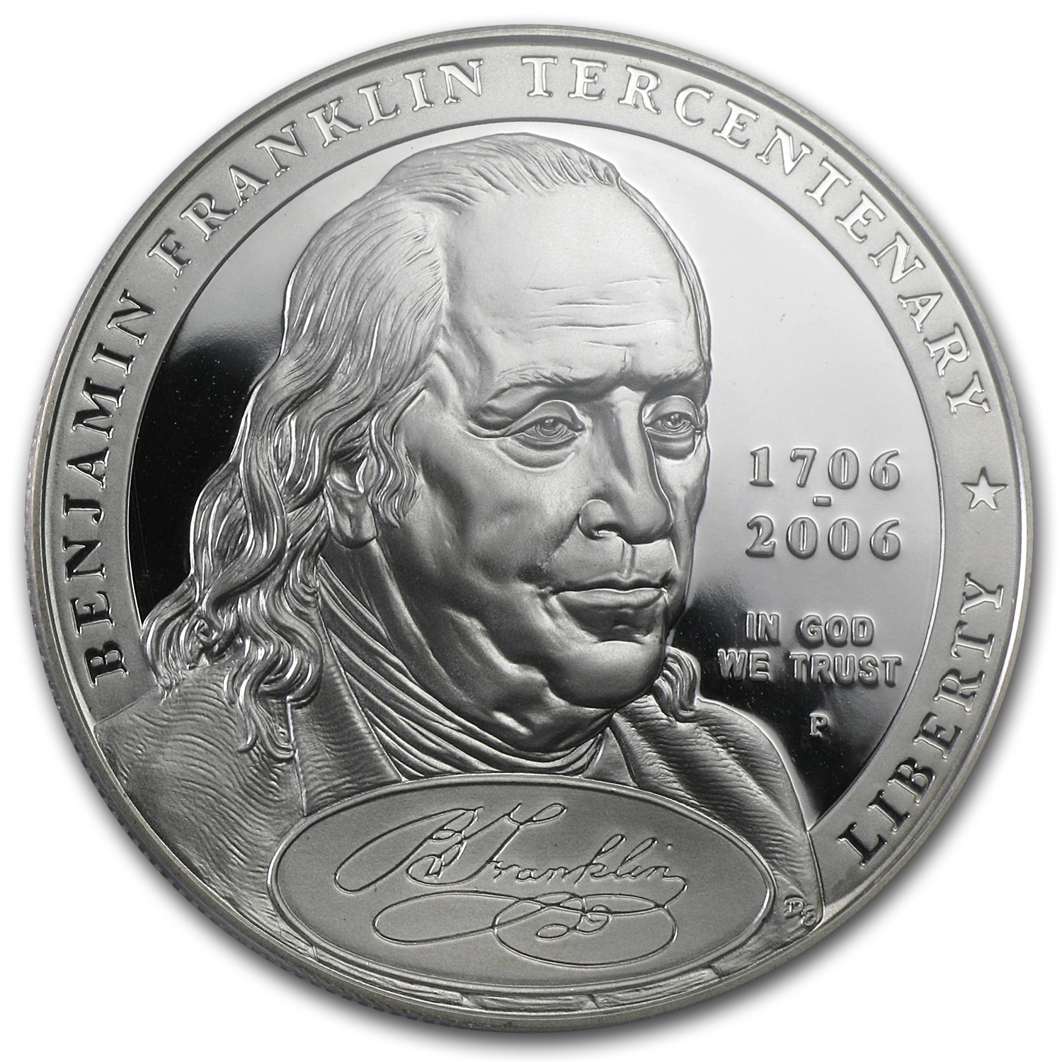 2006-P B.Franklin Founding Father $1 Silver Comm. PR-70 DCAM PCGS