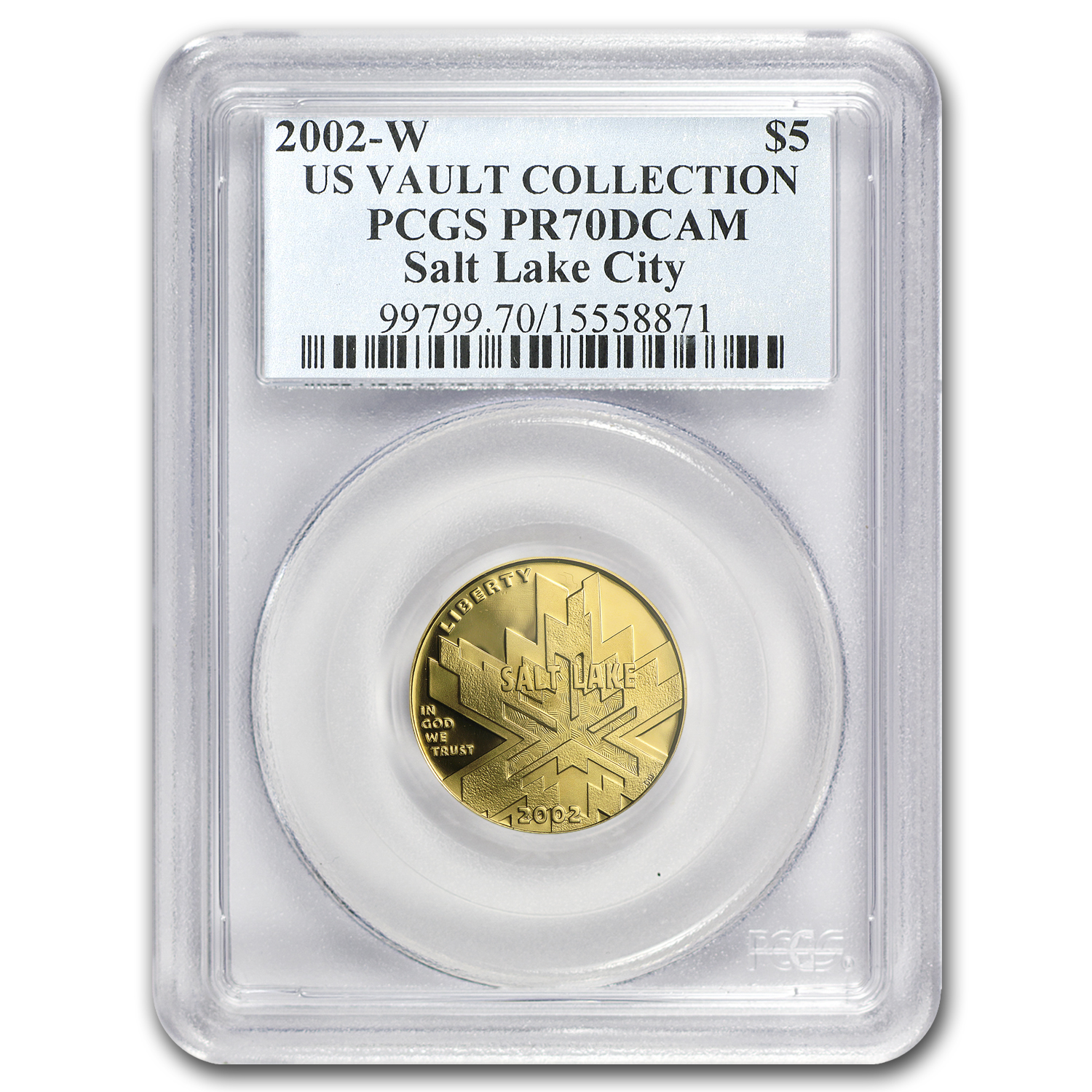 2002-W Gold $5 Commem Olympic Winter Games PR-70 PCGS