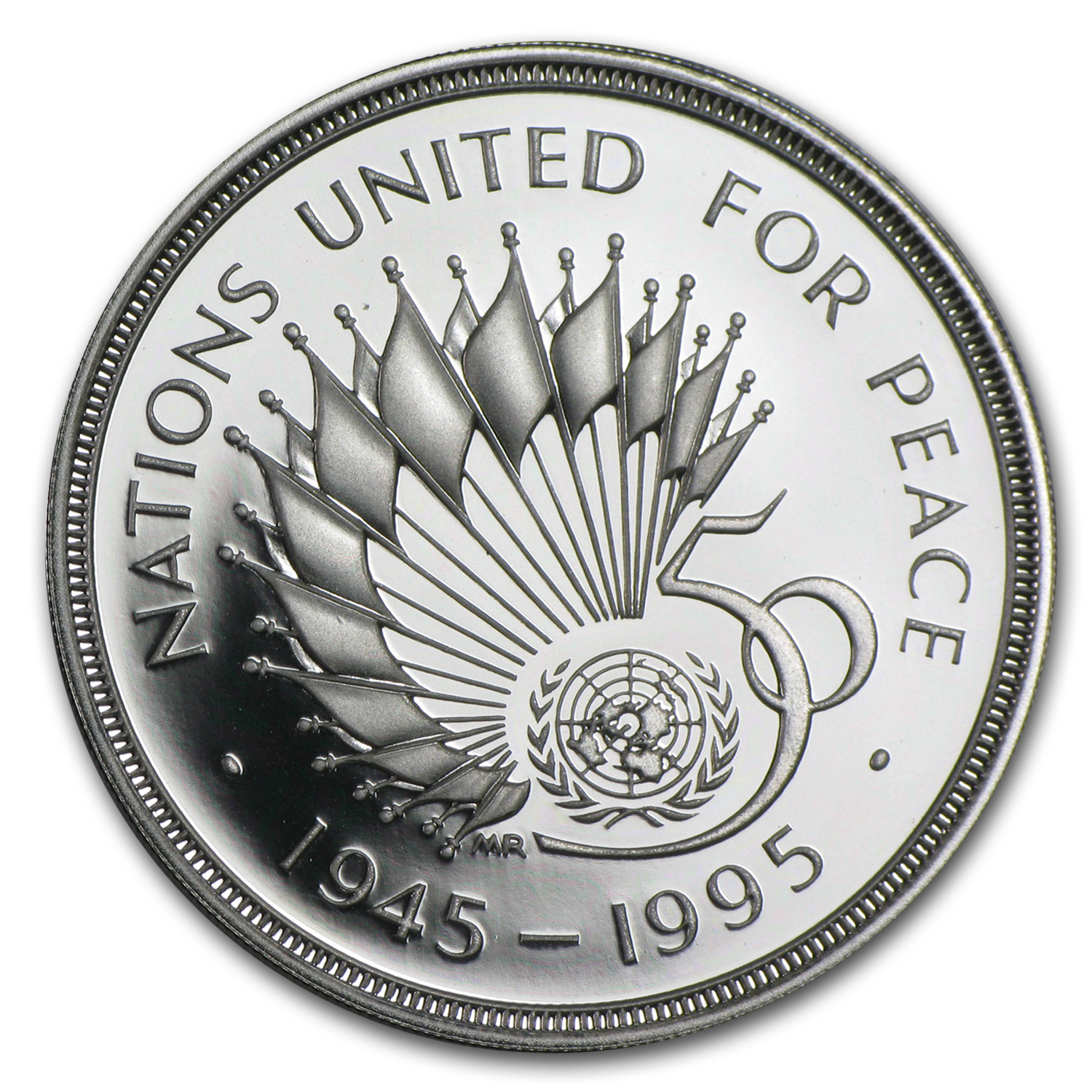 1995 Great Britain Silver £2 Piedfort United Nations