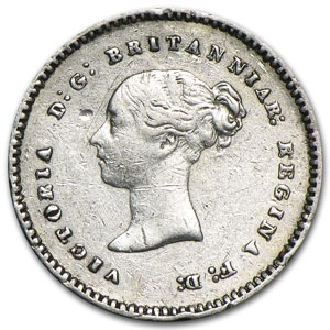 1879 Great Britain Silver 2 Pence Victoria